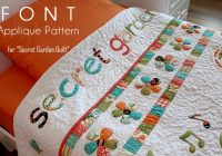 font applique secret garden quilt craft passion free Cozy Applique Patterns For Quilts