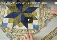 framing a quilt with border print fabric jinny beyer studio Cozy Jinny Beyer Quilt Patterns