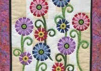 free applique patterns stitching cow flower garden Applique Flower Quilt Patterns