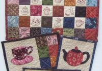 free hand embroidery pattern afternoon tea i sew free Cool Hand Embroidery Patterns For Quilts Gallery