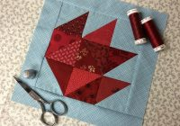 free maple leaf quilt block tutorial on bluprint Elegant Maple Leaf Quilt Block Pattern Gallery