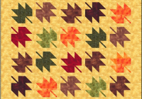 free maple leaf quilt pattern easy for beginners New Maple Leaf Quilt Patterns