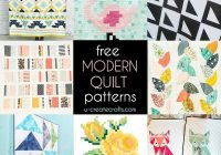 free modern quilt patterns u create 11 Modern Easy Modern Quilt Patterns