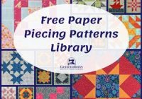 free paper piecing patterns library Elegant Wombat Siouxsie Quilts Paper Piecing Patterns