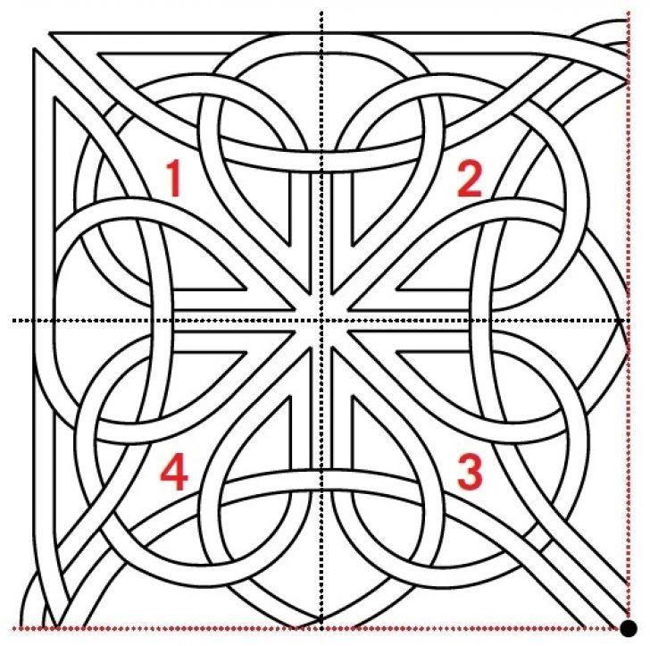 Permalink to Unique Celtic Knots Quilt Pattern