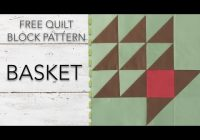 free quilt block pattern basket 11 Interesting Basket Quilt Block Patterns Inspirations