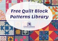 free quilt block patterns library Interesting Free Block Quilt Patterns For Beginners Inspirations