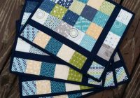free quilt pattern almost plaid placemats i sew free Elegant Quilting Patterns For Placemats
