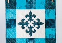 free quilt pattern class go fleur de lis table topper Stylish Fleur De Lis Quilt Pattern
