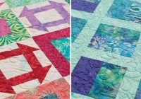 free quilt pattern for batiksand jelly rolls stitch this Cool Batik Fabric Quilt Patterns Inspirations