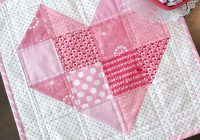 free quilt pattern heart quilt block i sew free Cozy Heart Quilt Block Pattern