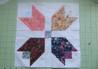 free quilt pattern scrappy calico tulip quilt block quilt Make A Patchwork Tulip Quilt Block Patterns Gallery