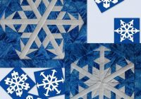 free quilt pattern snowflakes 5 6 i sew free 11 Cozy Snowflake Quilting Pattern Gallery