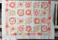 french roses quilt top finished coriander quilts Cozy French Roses Quilt Pattern Gallery