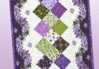 fresh lilacs table runner free pattern designed debbie Cool Debbie Beaves Quilt Patterns Inspirations