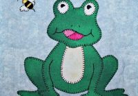 frog or toad pdf applique quilt block pattern Modern Frog Quilt Block Pattern Gallery