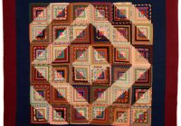 from 1880sbarnraising log cabin quilt from a unique Cool Barn Raising Quilt Pattern Inspirations