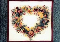 garden heart quilt pattern flower wreath watercolor quilt pattern uses floral fabric squares easy quilt pattern squares quilt pattern Stylish Watercolor Heart Quilt Pattern