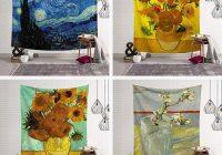 geometry famous van gogh print tapestries wall hanging sunflower tapestry decorative blanket fabric bedroom 200x150cm large gobelin tapestries gobelin Interesting Elegant Van Gogh Quilting Fabric Ideas Gallery