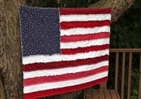 grand old flag rag quilt big a little a Cool American Flag Rag Quilt Pattern Gallery