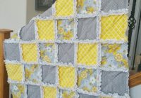 gray and yellow rag quilt crafts diy easy stuff rag Quilt Patterns Pictures Of Rag Quilts Inspirations