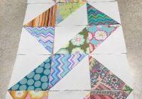 great design for half square triangles triangle quilt Cozy Half Square Triangle Quilt Pattern