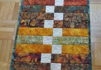 great use of strips and scraps craft projects table Stylish Quilted Table Runner Pattern Inspirations