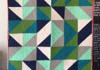 half square triangle ba boy quilt bright linen Interesting Triangle Baby Quilt Inspirations