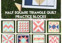 half square triangle quilt practice blocks a girl and a Beautiful Half Square Triangle Quilt Blocks
