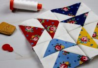 hand pieced qal flying geese unit block 3 simple Elegant Hand Pieced Quilt Patterns