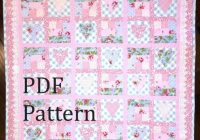 heart quilt pattern ba quilt pattern ba girl quilt Stylish Patchwork Cot Quilt Patterns Gallery