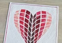 heart quilt pattern love letters Unique Applique Heart Quilt Patterns Inspirations