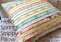hello spring strippy pillow tutorial quilting in the rain Cool Quilting Pillow Patterns Gallery