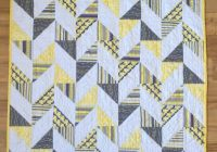 herringbone half square triangle ba quilt crafty half Elegant Triangle Baby Quilt Pattern Inspirations