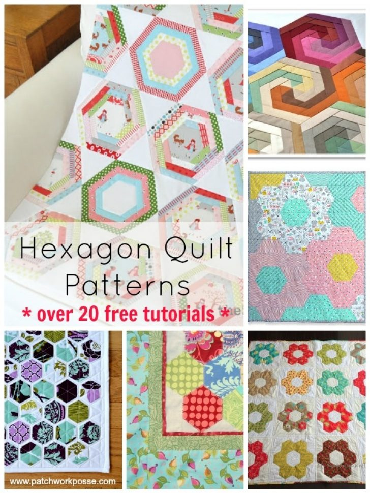 Permalink to Stylish Quilt Patterns Using Hexagons Inspirations