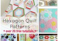 hexagon quilt pattern 20 designs and ideasto sew your next Unique Patchwork Quilt Designs Patterns Gallery