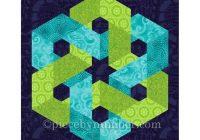 hexagonia quilt block pattern paper pieced quilt pattern instant download celtic knot quilt pattern hexagon quilt pattern geometric Interesting Hexagonia Quilt Designs
