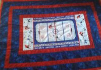 hockey quilt for grandson sports quilts panel quilts Hockey Quilt Pattern