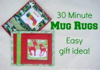 holiday mug rug the sewing loft Stylish Quilted Mug Rug Patterns Gallery