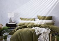 home republic vintage washed linen quilt cover olive Unique Vintage Washed Linen Quilt Cover Gallery