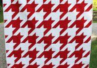 houndstooth quilt pattern modern quilt pattern retro quilt Modern Houndstooth Quilt Pattern Inspirations
