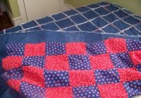 how to make a denim rag quilt feltmagnet Stylish Denim Patchwork Quilt Patterns Inspirations