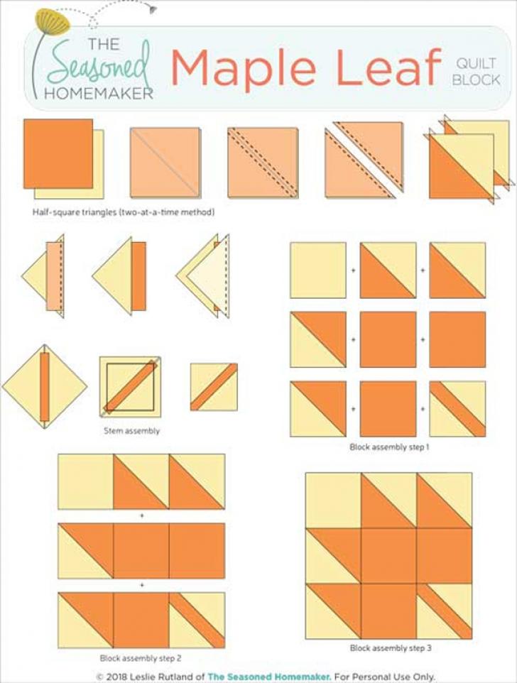 Permalink to Elegant Maple Leaf Quilt Block Pattern Gallery