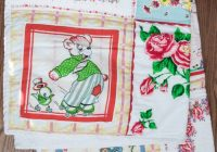 how to make a quilt from vintage hankies polka dot chair Unique Vintage Handkerchief Quilt Pattern Inspirations
