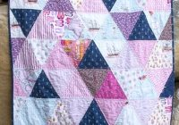 how to make a triangle quilt on the polka dot chair blog Unique Triangle Quilt Patterns Inspirations