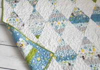 how to make a triangle quilt the seasoned homemaker Interesting Triangle Quilt Border Pattern Gallery