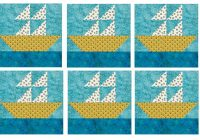 how to quilt block a 12 sailboat Quilt Pattern Sailboats Inspirations