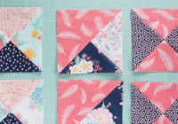 how to sew perfect quarter square triangles quilting digest Modern Quarter Square Triangle Quilt Inspirations