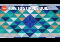 how to stipple quilt easy free motion quilting design with angela walters Modern Stippling Quilt Patterns Inspirations