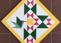 hummingbird barn quilt with yellow Stylish Barn Quilt Patterns Inspirations